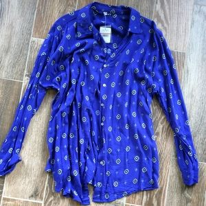 NWT free People small button up blouse top